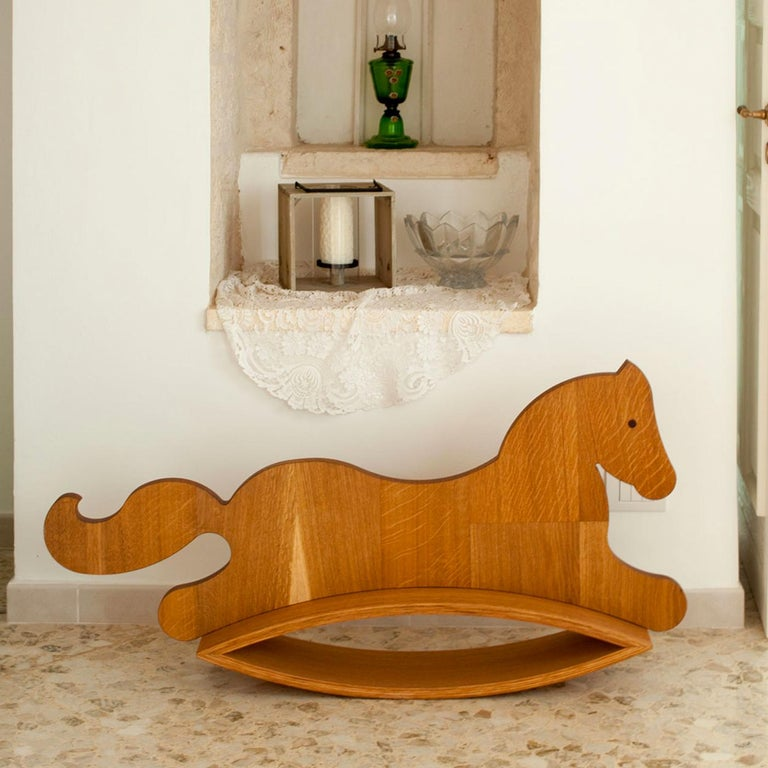 Wood Murgese Rocking Horse by Apulia Design For Sale