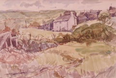 Cornish Landscape - Mid 20th Century Impressionist Watercolour by Muriel Archer