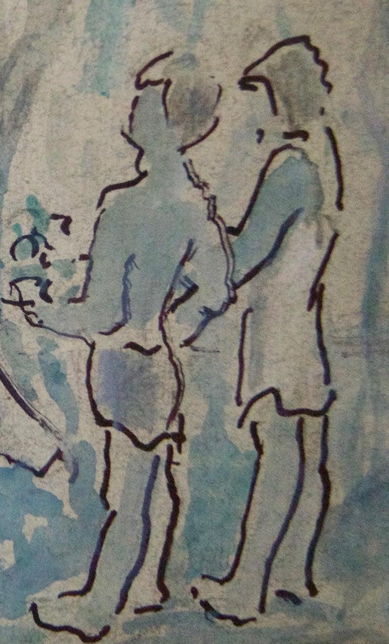 Mother & Children - Mid 20th Century Impressionist Piece by Muriel Archer For Sale 2