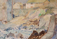 St Ives - Late 20th Century Impressionist Oil of Cornwall UK by Muriel Archer