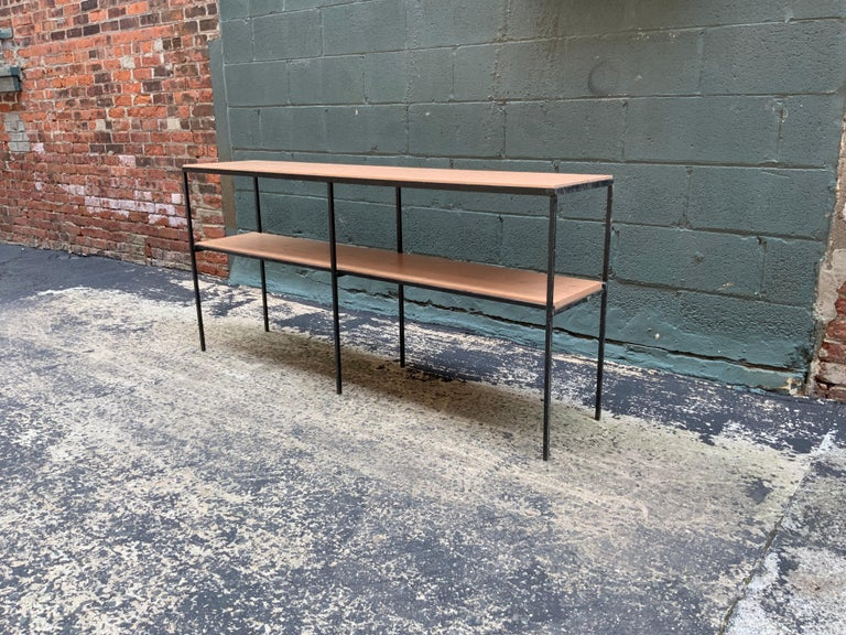 Mid-20th Century Muriel Coleman California Modern Style Iron and Cherry Shelving Unit For Sale
