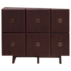 Muriel Wood Cabinet in Pavese Cherry Finish by Ferruccio Laviani
