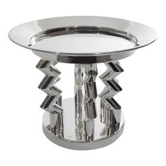 Murmansk Silver Plated Brass Fruit Bowl, by Ettore Sottsass from Memphis Milano