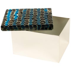 Murrine Blu Box by Roberto Rida Ft. Vintage Venini Glass, Italy, 2019
