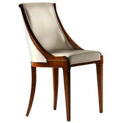 Musa, Upholstered Chair Made of Cherrywood