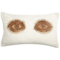 Muse Beaded 'Eyes' Pillow