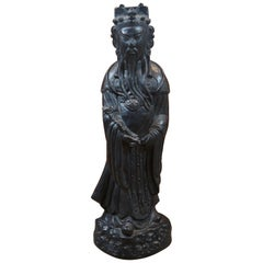 Museum Company Chinese Diety Luxing Lu Hsing Prosperity Sculpture Sculpture