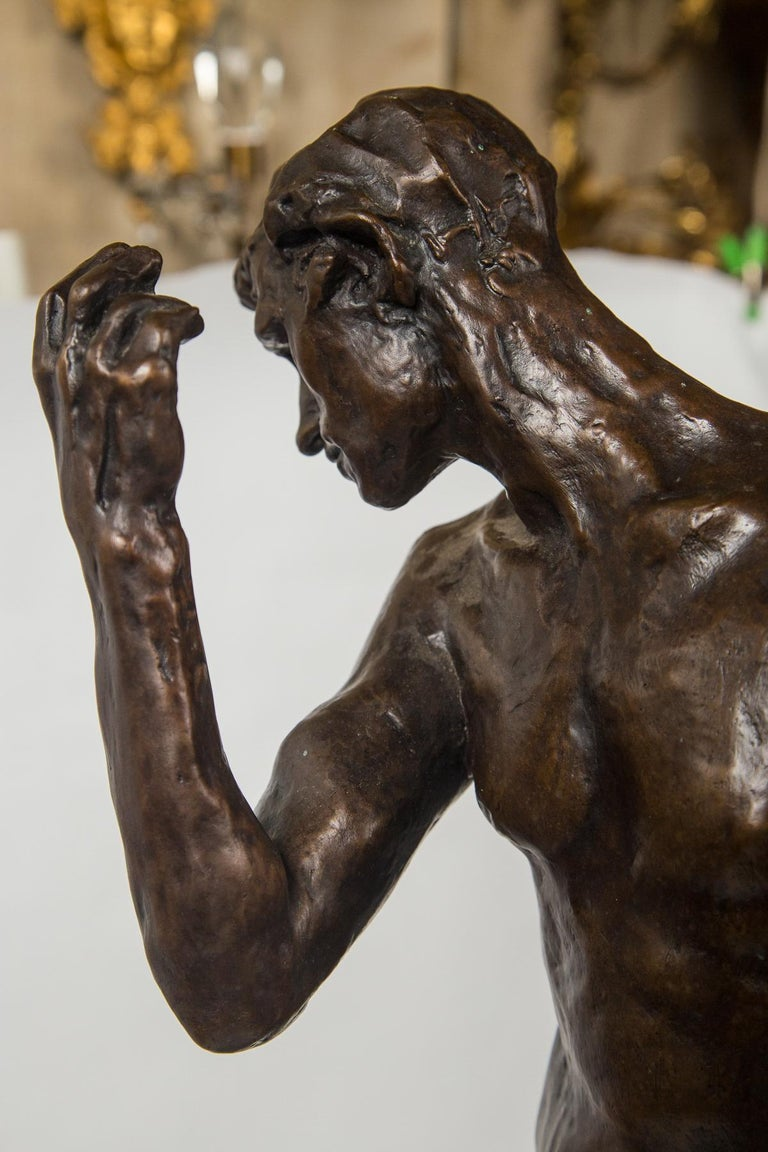 Museum Copy of a Rodin Sculpture of a Male For Sale 4