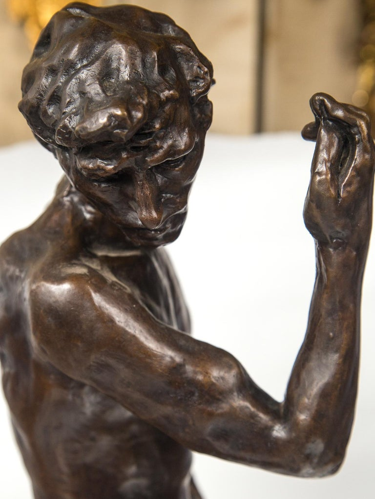 Cast Museum Copy of a Rodin Sculpture of a Male For Sale