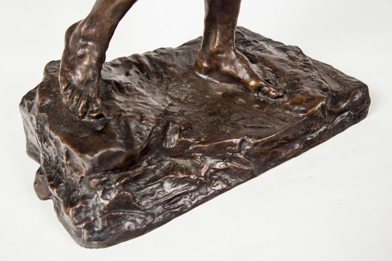 Museum Copy of a Rodin Sculpture of a Male In Excellent Condition For Sale In Woodbury, CT