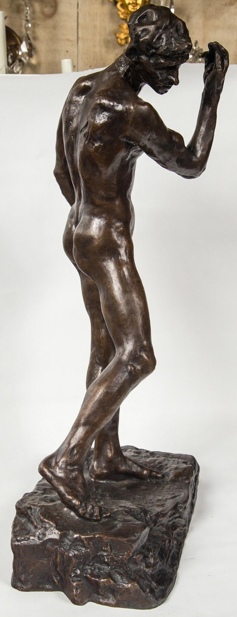 Mid-20th Century Museum Copy of a Rodin Sculpture of a Male For Sale