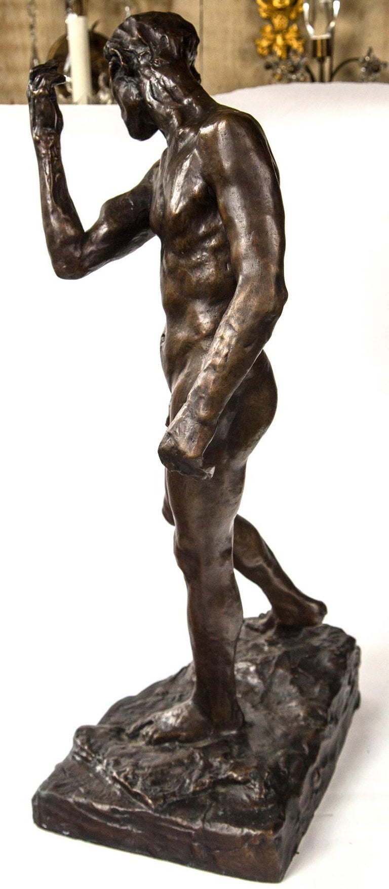 Museum Copy of a Rodin Sculpture of a Male For Sale 2