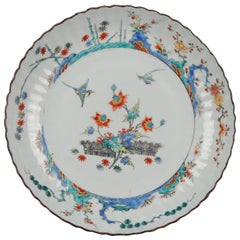 Museum Piece circa 1720 Kangxi Chinese Porcelain Kakiemon Plate Birds
