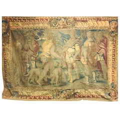 Museum Piece from the 16th-17th Century, Renaissance Style Tapestry Canvas