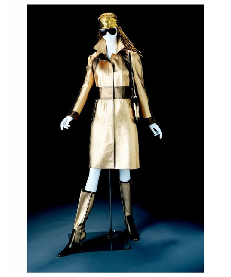 Museum Piece - Gucci by Tom Ford Fall 2000 Two Tone Gold & Bronze Boots 1