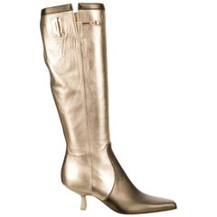 Museum Piece - Gucci by Tom Ford Fall 2000 Two Tone Gold & Bronze Boots