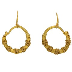 Museum quality Ancient Greek wirework earrings, circa 5th-4th century BC.
