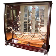 Museum-Quality, Fully Assembled Replica of the H.M.S. Victory Adm. Nelson