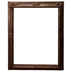 Museum Quality Gilt Gesso Frame with Embossed Designs