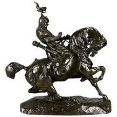Museum Quality 'Guerrier Tartare Arrêtant Son Cheval' by Antoine Louis Barye
