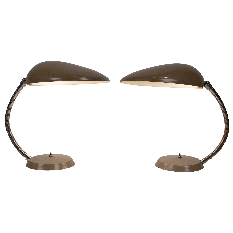 Grossman Cobra Lamp, Museum Quality Pair, Ralph O. Smith Labels Intact