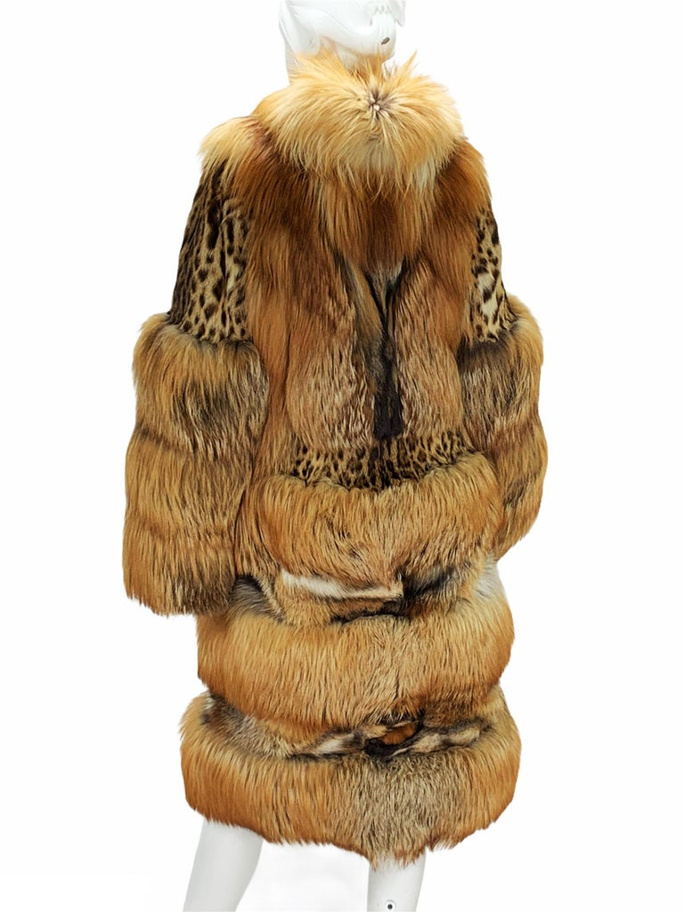 Museum Tom Ford for Gucci Runway F/W 1999 2 in 1 Fur Coat Jacket  For Sale 5