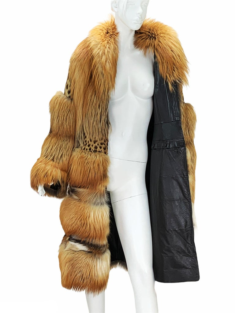Museum Tom Ford for Gucci Runway F/W 1999 2 in 1 Fur Coat Jacket  For Sale 6