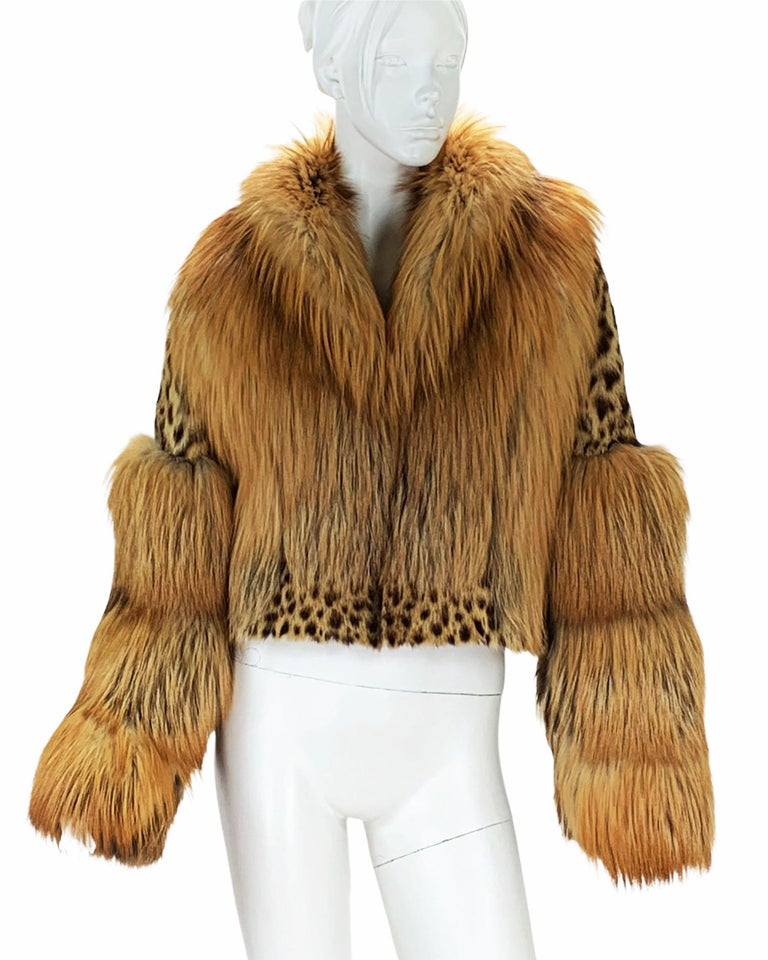 Museum Tom Ford for Gucci Runway F/W 1999 2 in 1 Fur Coat Jacket  For Sale 7