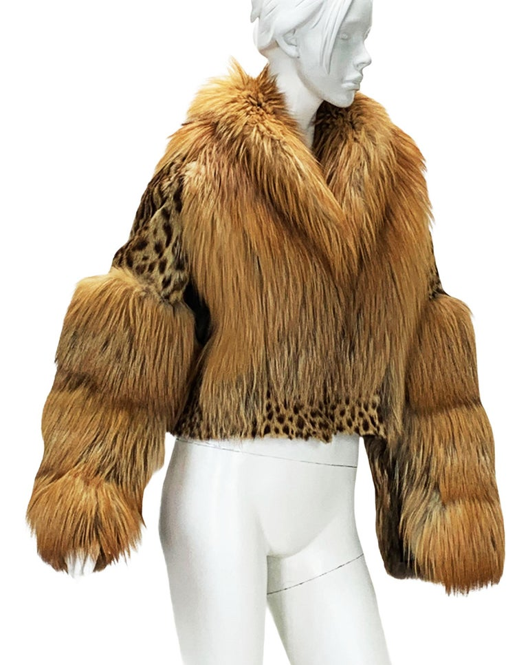 Museum Tom Ford for Gucci Runway F/W 1999 2 in 1 Fur Coat Jacket  For Sale 8