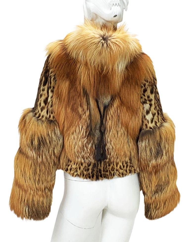 Museum Tom Ford for Gucci Runway F/W 1999 2 in 1 Fur Coat Jacket  For Sale 9