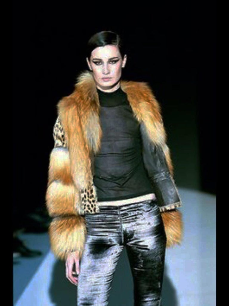 Brown Museum Tom Ford for Gucci Runway F/W 1999 2 in 1 Fur Coat Jacket  For Sale