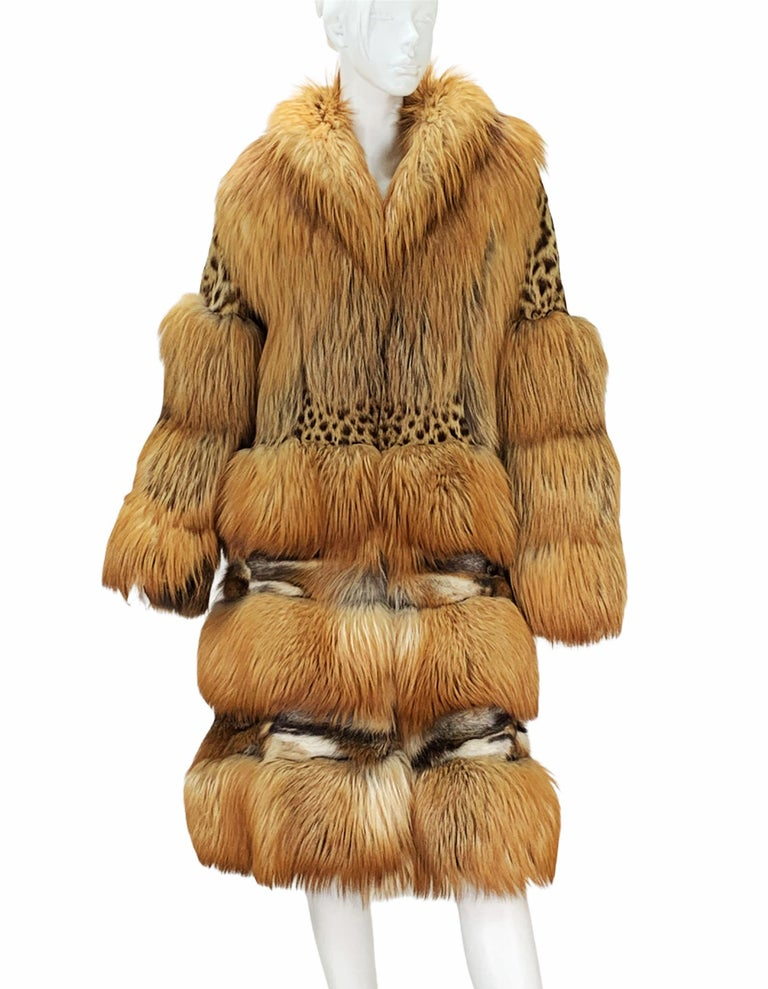 Museum Tom Ford for Gucci Runway F/W 1999 2 in 1 Fur Coat Jacket  For Sale 2