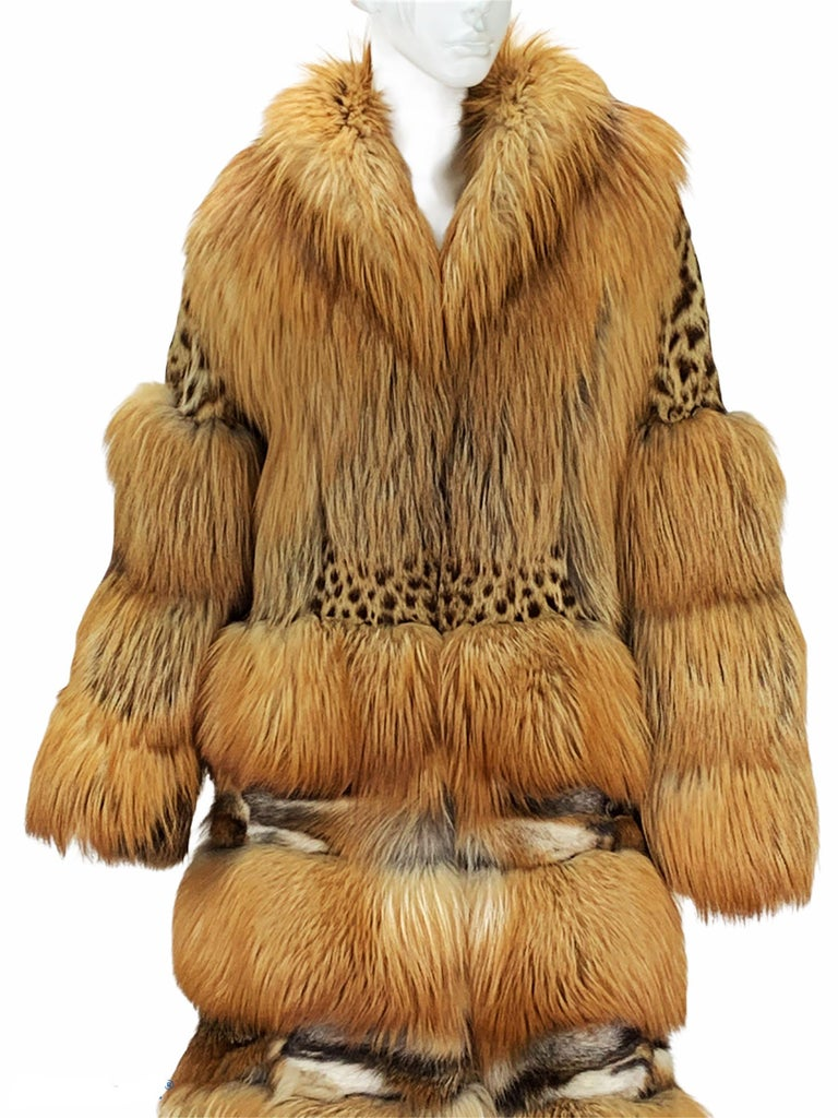 Museum Tom Ford for Gucci Runway F/W 1999 2 in 1 Fur Coat Jacket  For Sale 3