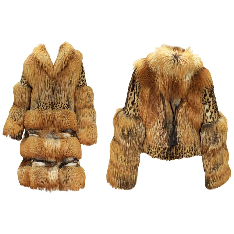 Museum Tom Ford for Gucci Runway F/W 1999 2 in 1 Fur Coat Jacket  For Sale