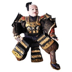 Musha Samurai Warrior Figure, circa 1850