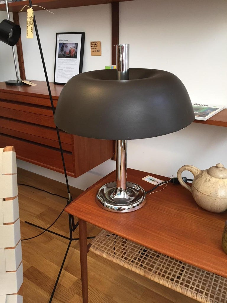 Mid-Century Modern Mushroom Table Lamp by Egon Hillebrand, Germany For Sale