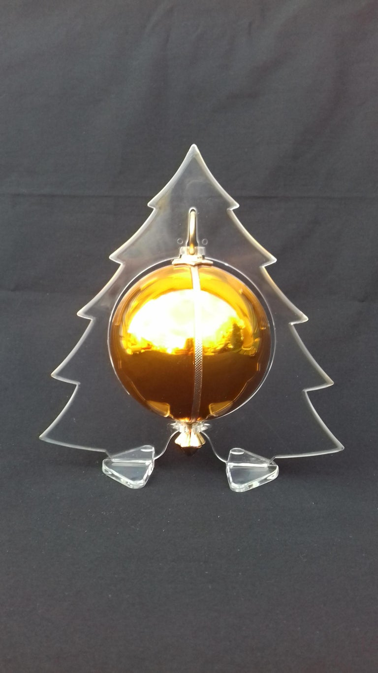 Musical Christmas Ball Christmas Tree Christmas Ornament Music Box Silent Night In Good Condition In ., FR