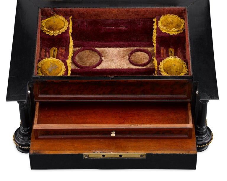 Austrian Musical Jewelry and Sewing Casket For Sale