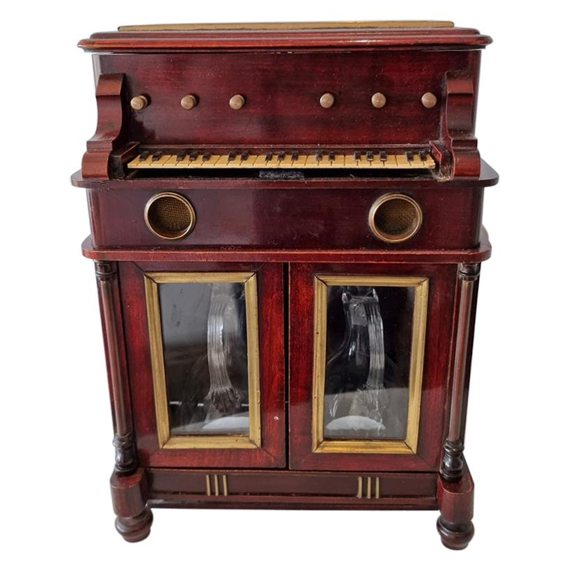 Musical Tantalus Piano Drinks Cabinet