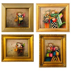 Musicians Oil on Canvas Painting after Graeciela Rodo Boulanger, Set of 4
