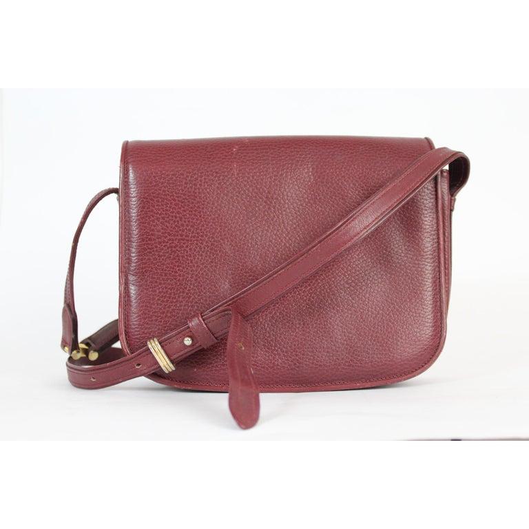 Must De Cartier Burgundy Leather Shoulder Bag 1980s In Good Condition In Brindisi, Bt
