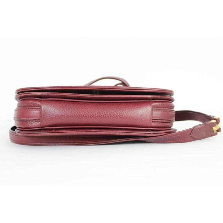 Must De Cartier Burgundy Leather Shoulder Bag 1980s 2
