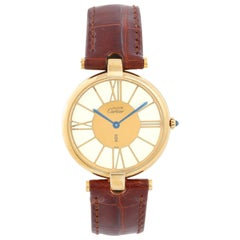 Must de Cartier Gold Vermeil Plaque Men's or Ladies Watch