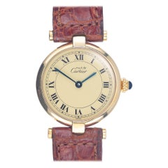 Must de Cartier Ladies Vermeil Gold Plate Sterling Silver Wristwatch