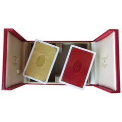Must de Cartier Paris Vintage Playing Poker or Bridge Cards in Red Original Box