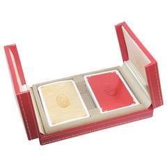 Must De Cartier Paris Vintage Playing Poker or Bridge Cards in Red Original Box