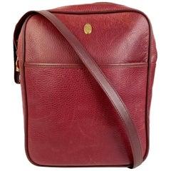 Must de Cartier Vintage Burgundy Leather Messenger Crossbody Bag