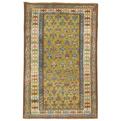 Mustard Field Tribal Late 19th Century Antique Caucasian Shirvan Rug