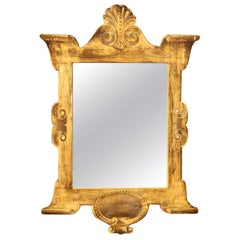 Mustard Gold Painted Trompe L'oeil Mirror
