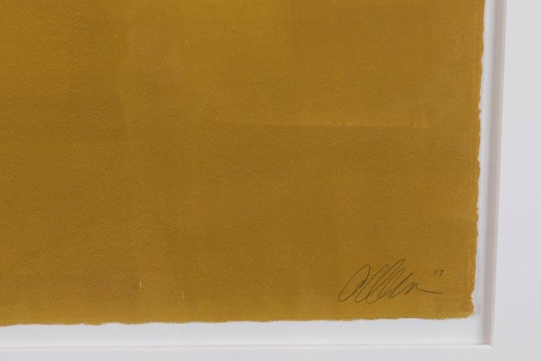 Mustard Gradient monoprint #19 by Anna Ullman.
